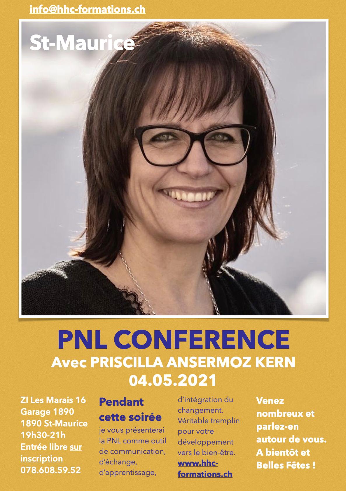 PNL, Conférence du 05 mai 2021 à St-Maurice